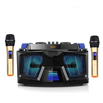 Loa karaoke gồm 2 micro không dây kết nối bluetooth D221 ( hàng nhập khẩu ) tặng 1 bộ chuyển đổi cáp quang