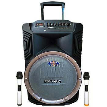 Loa kẹo kéo karaoke bluetooth Ronamax B15A - Hàng chính hãng
