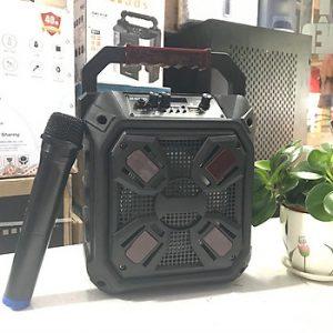 Loa kẹo kéo karaoke bluetooth MN01/11C kèm 1 micro không dây - cho cả làng cùng vui