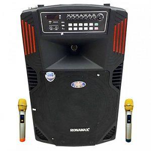 Loa kẹo kéo karaoke bluetooth Ronamax F18 - Hàng chính hãng