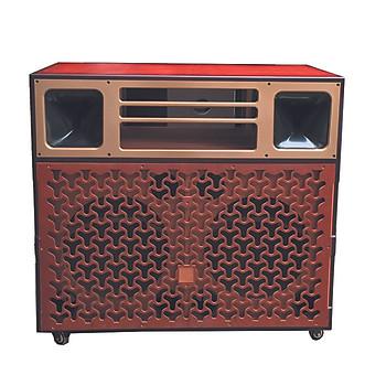 Vỏ thùng loa tủ loa kéo karaoke  T 6500 HẢI TRIỀU  (Hàng chính hãng)