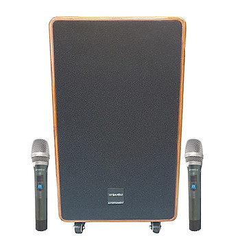 Loa kẹo kéo karaoke bluetooth di động Sansui SG10-12 - Hàng nhập khẩu